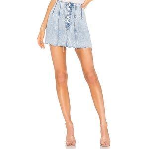 NWOT GRLFRND Twiggy You Were Mine Denim Mini Skirt